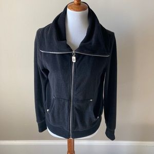 MK by Michael Kors black terry cloth jacket